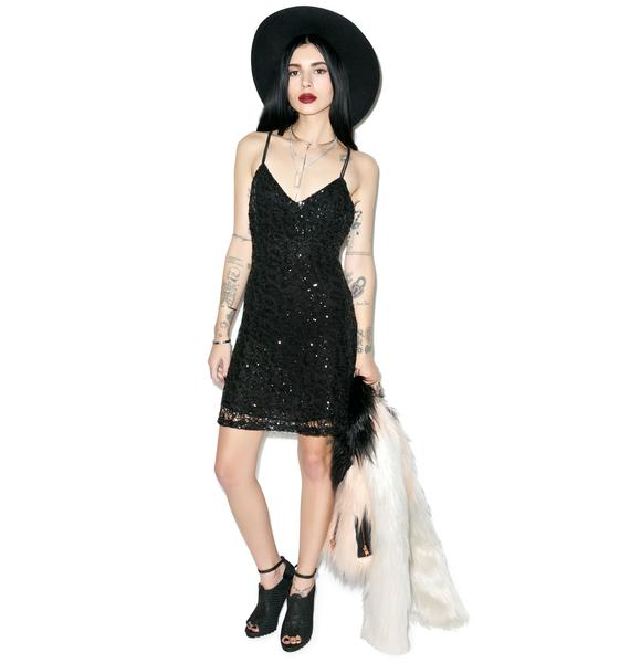 Glamorous Double Crossed Sequin Cami Dress