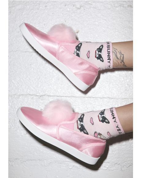 Femme Pom Pom Sneaker