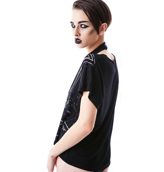Lip Service Occult Symbol Print Top