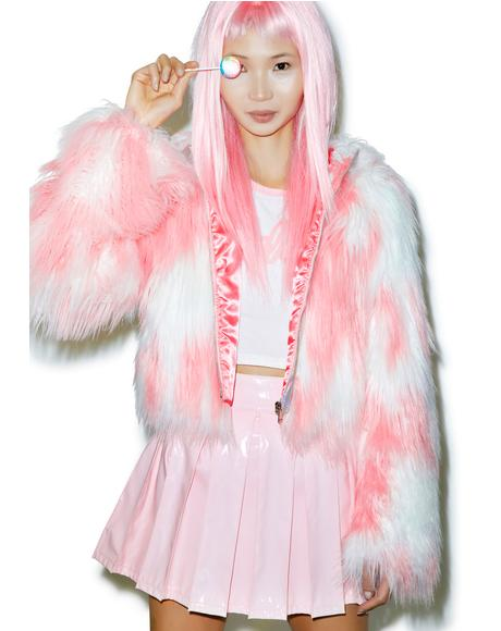 X Dolls Kill Faux Fur Phenomena Coat