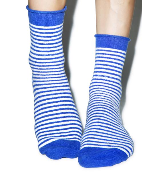 Plush Earned Stripes Fleece Socks