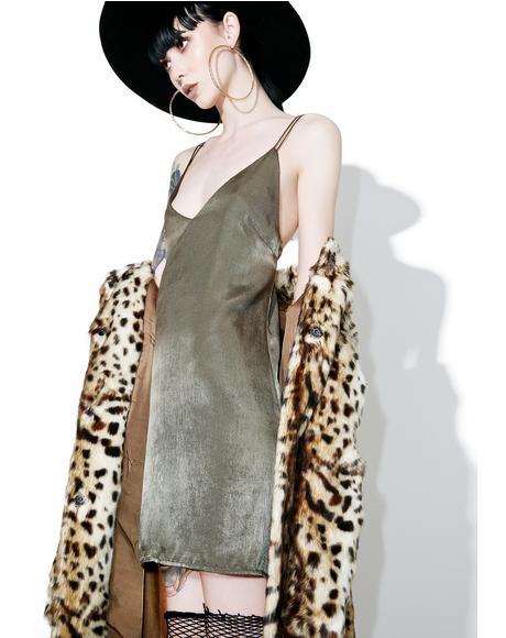 Impressionz Satin Slip Dress