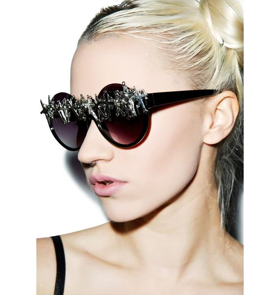 Gasoline Glamour Cross-Eyed Peekaboo Sunglasses
