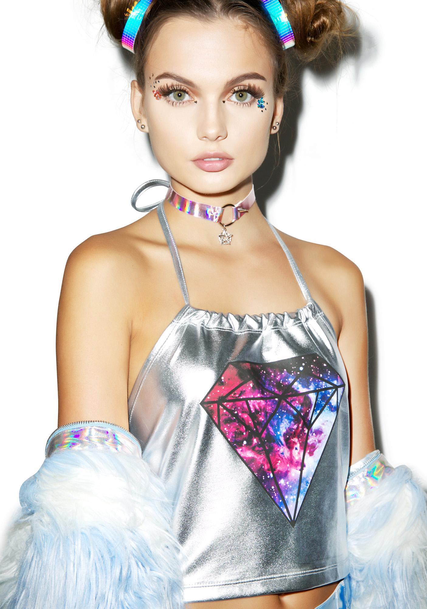 Galaxy Of Diamonds Halter Top