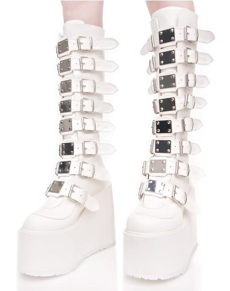 X Dolls Kill White Trinity Boots