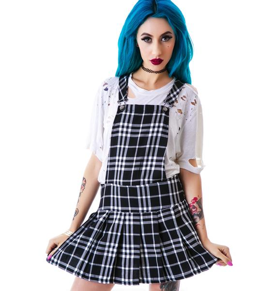 Tripp NYC Plaid Jumper Dress
