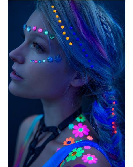 Neon Flower Power Hair Jewelz