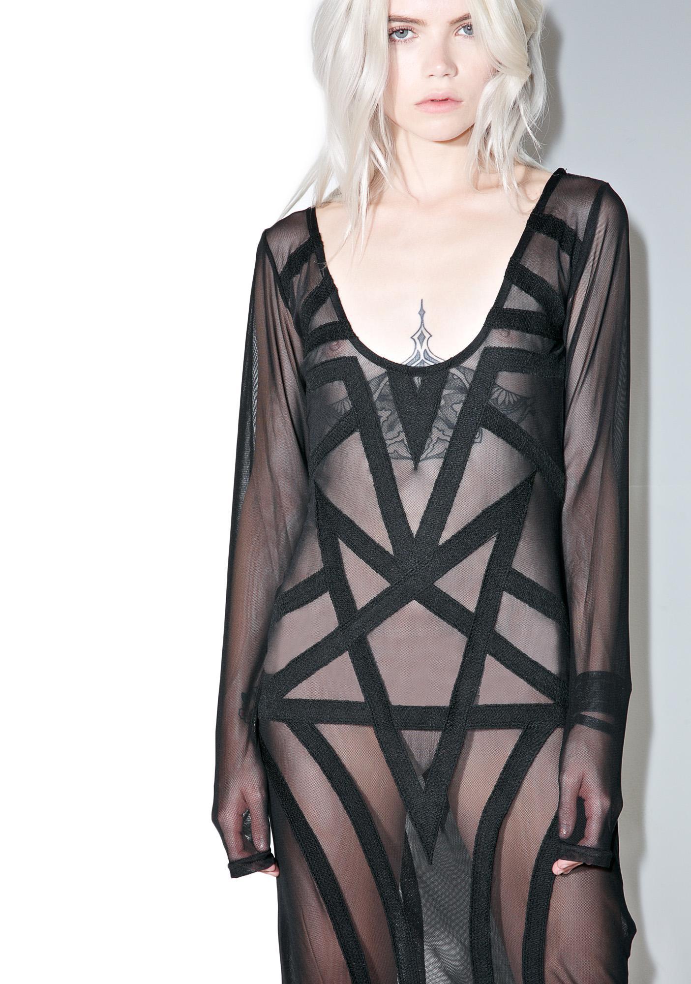 Killstar Zandra Mesh Maxi Dress