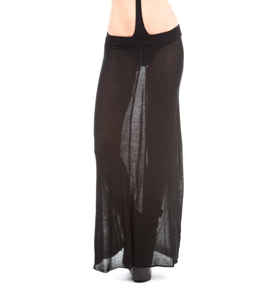 One Teaspoon Hunter Fine Knit Maxi Skirt