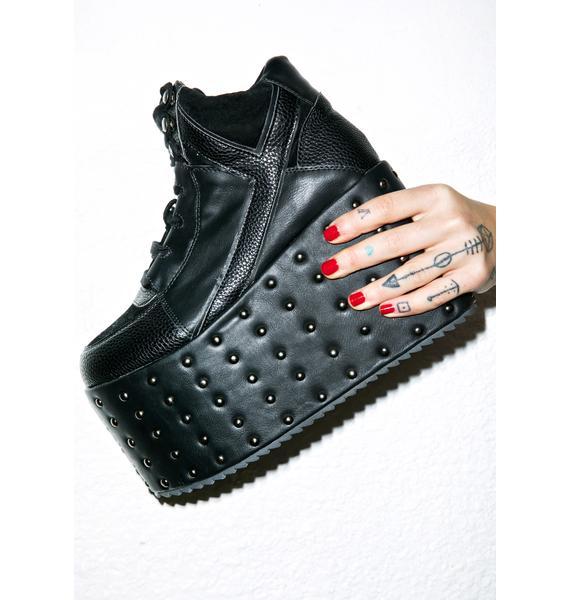 Y.R.U. Qozmo Studded Platform Sneakers