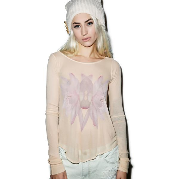 Wildfox Couture Twin Lotus Long-Sleeve Cassidy Tee