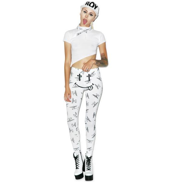 BOY London United Boy White Acid Leggings