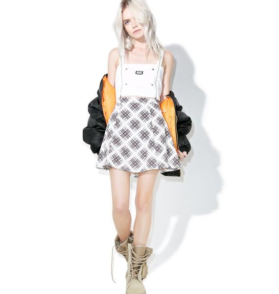 Motel Kate Check Zeca A-Line Skirt