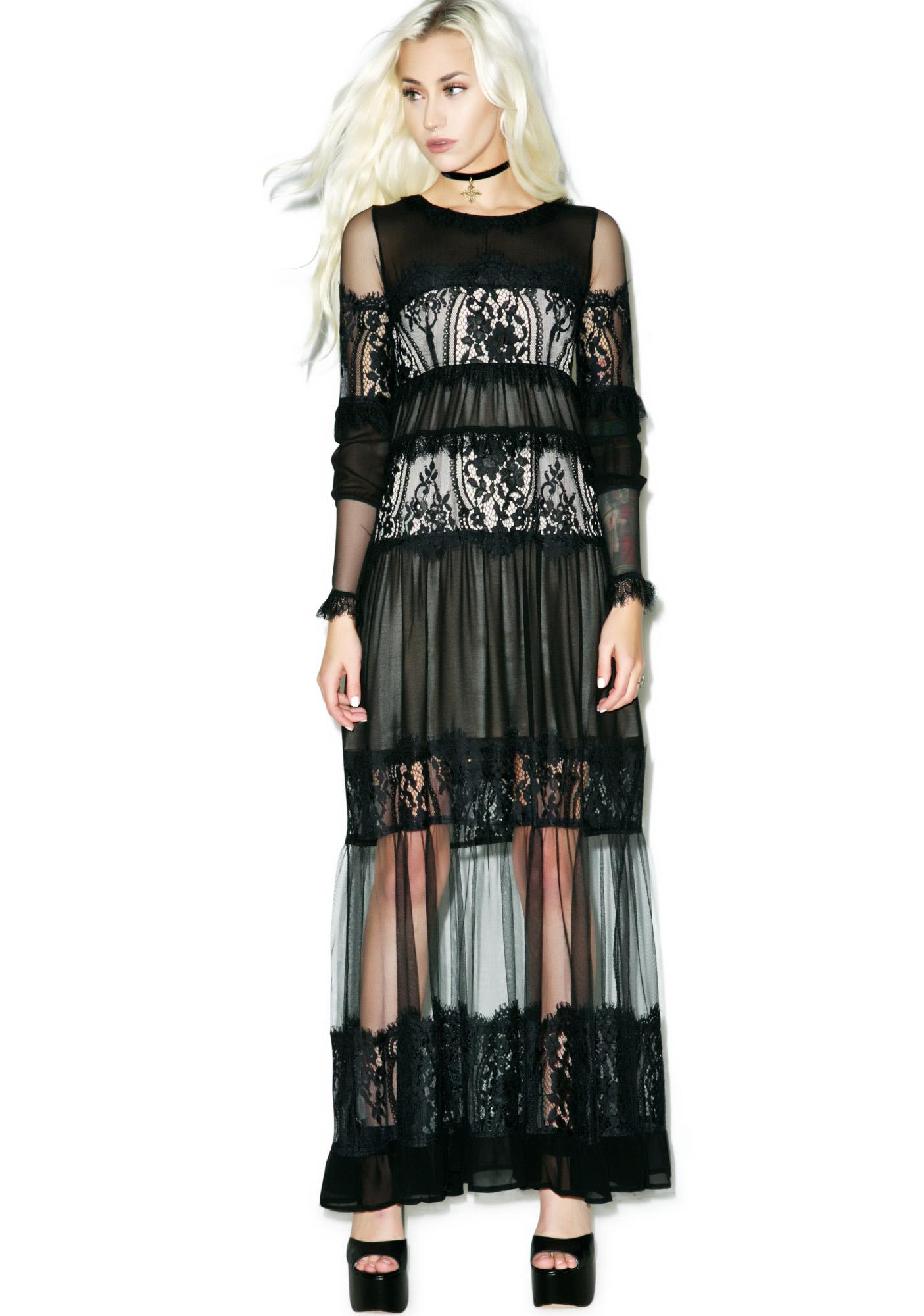For Love & Lemons Alexa Maxi Dress