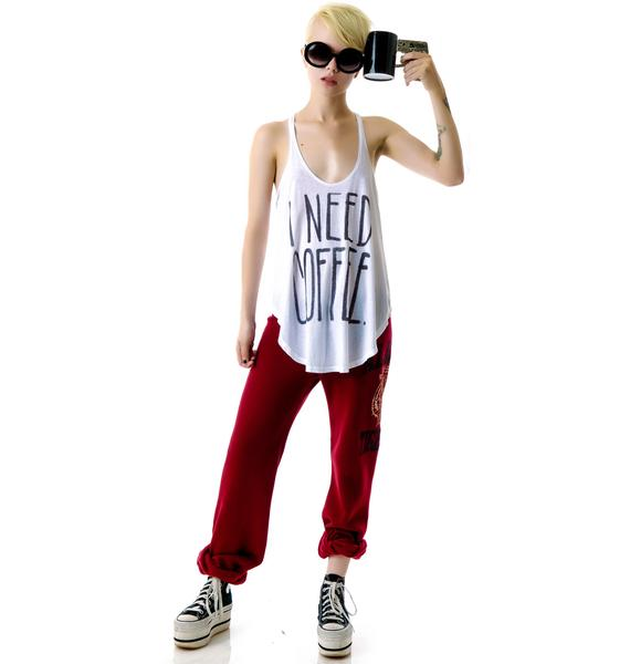 Junk Food Clothing I Need Coffee Tank