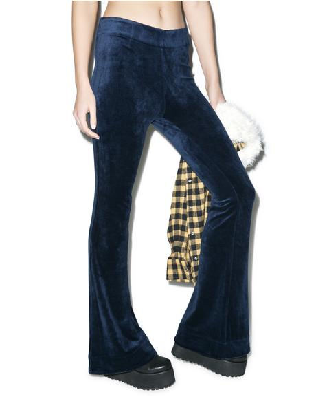 Wise Guy Velvet Flare Pants