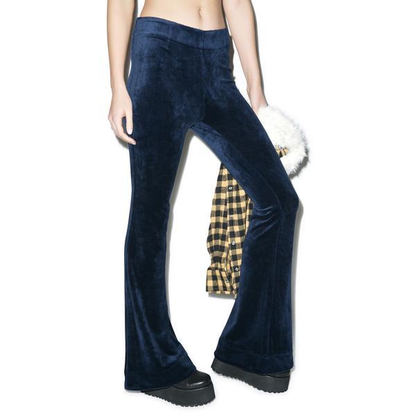 Somedays Lovin Wise Guy Velvet Flare Pants