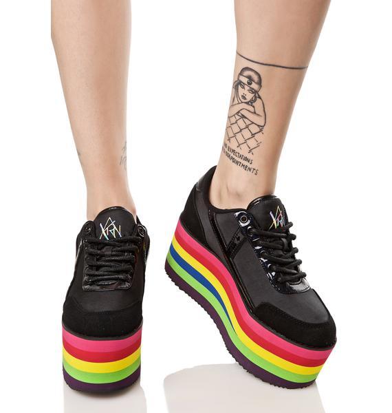 Y.R.U. Karazii Rainbow Platform Sneaker