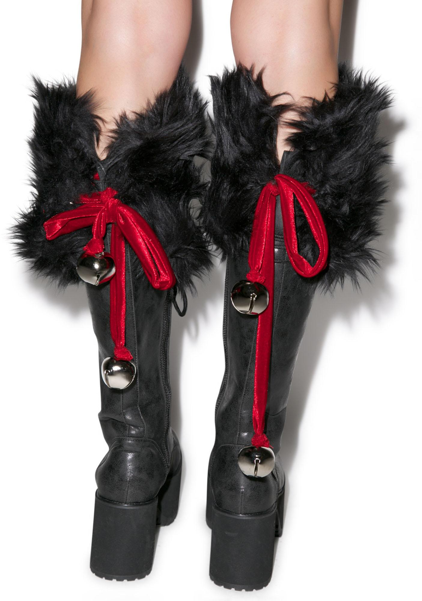 J Valentine Jingle Bell Boot Toppers