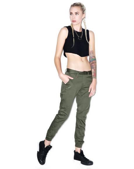 Hanna Stretch Twill Jogger Pants