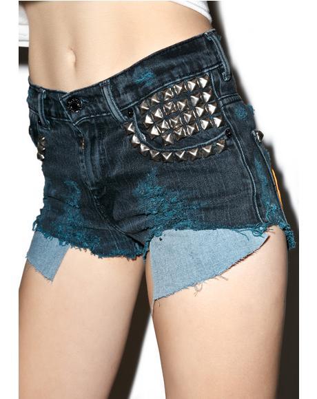 Vintage Deadstock Destroyed Hersher Cutoff Shorts