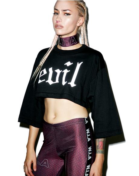 Evil Reflective Crop Top