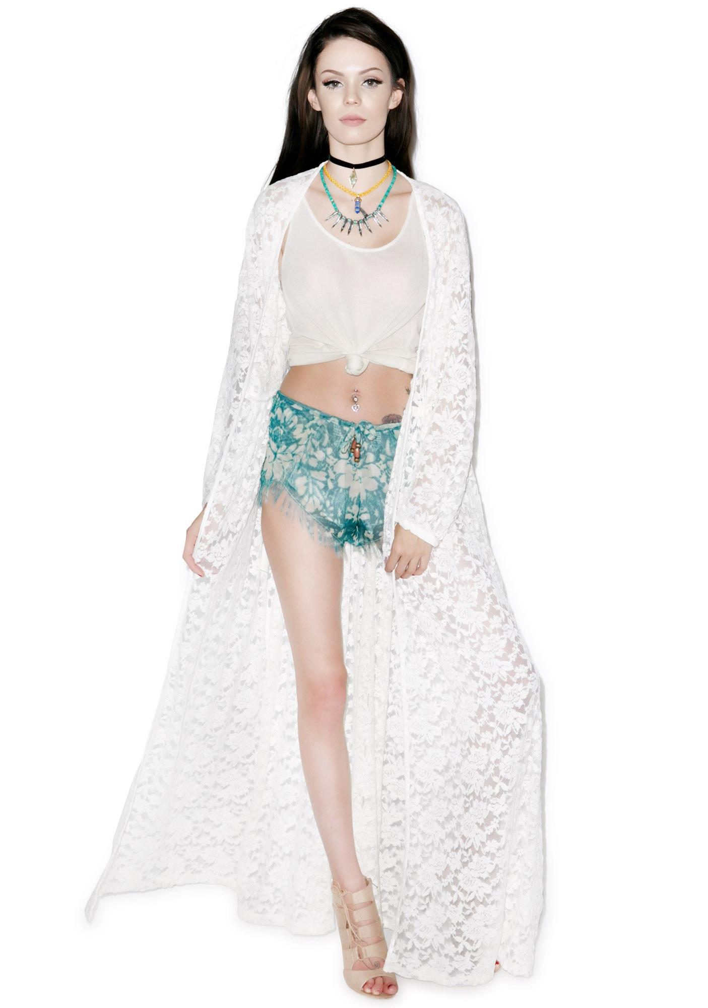 Somedays Lovin Bare Bones Lace Maxi Vest