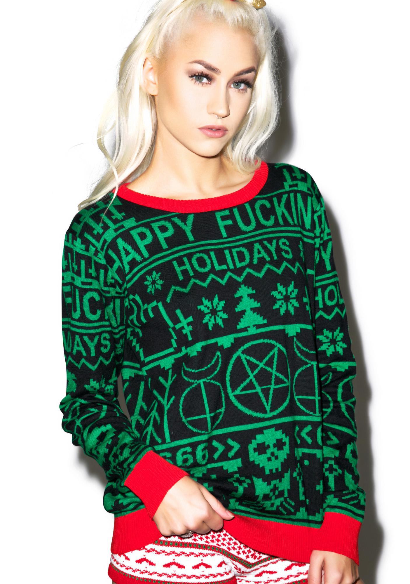 Happy Fucking Holidays Sweater