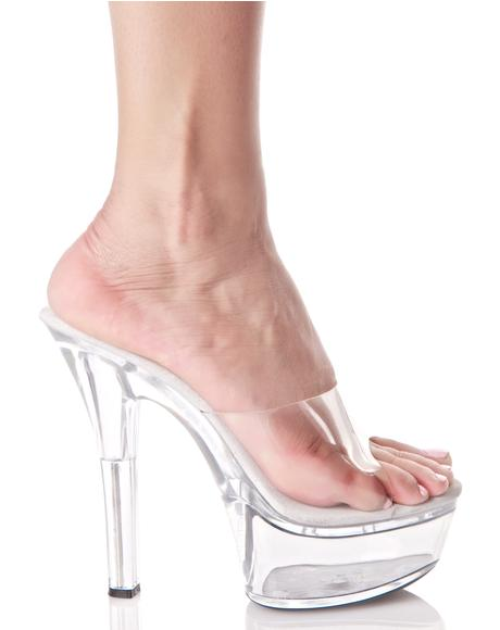 Lucite Vanity Platform Heels