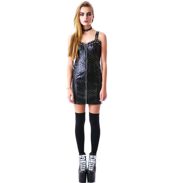 Rock the Skull Zip front Dress