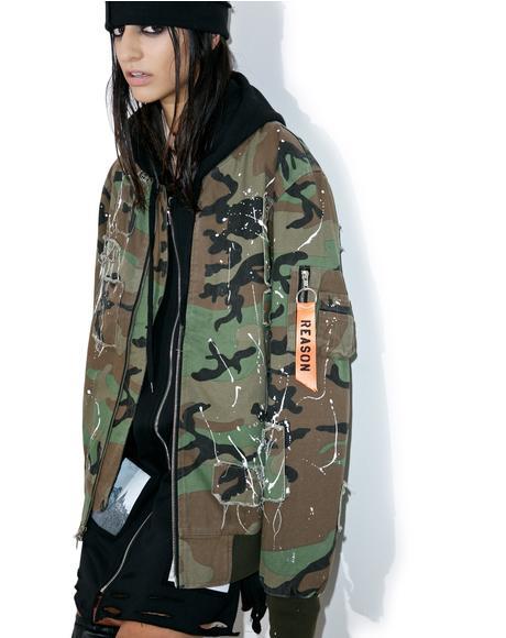 Militia Splatter Bomber Jacket
