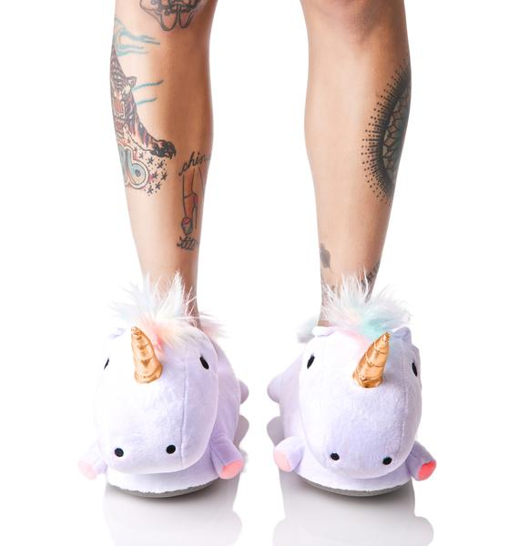 Smoko Unicorn Light-Up Slippers