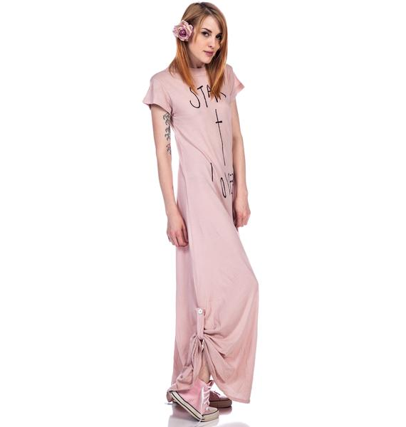 Wildfox Couture Star Crossed Lovers Grunge T Dress