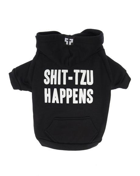 Shit-Tzu Happens Dog Hoodie