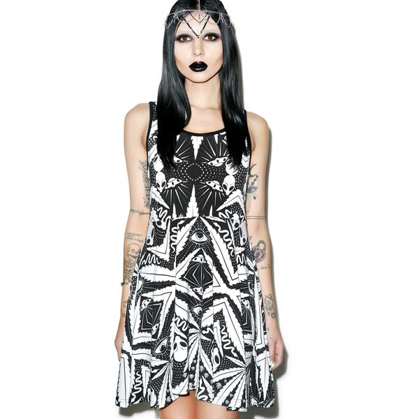 Killstar Space Grass Skater Dress