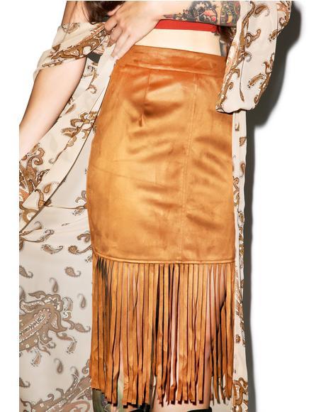 Poca Hot Azz Fringe Skirt