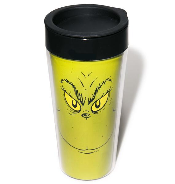 Grinch Plastic Travel Mug