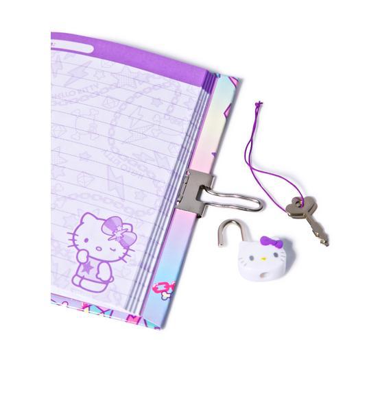 Sanrio Pastel Pop Hello Kitty Locking Diary