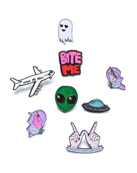 Outta This World Enamel Pin Set