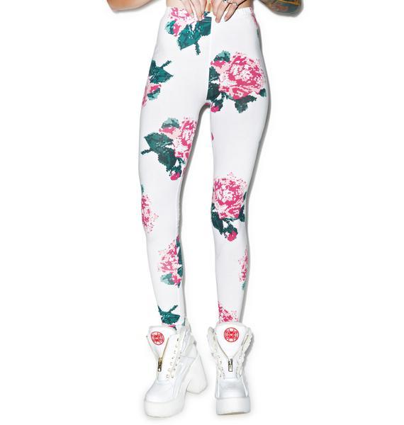 Joyrich 8bit Floral Leggings