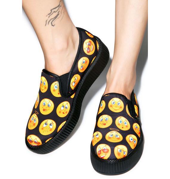 T.U.K. Emoji Slip-On Creepers