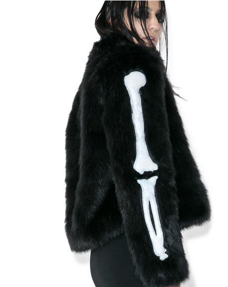 Bone In Faux Fur Jacket
