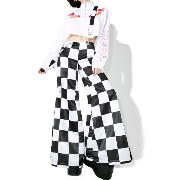 DEVOWEVO Prankster Checkerboard Suspender Bells