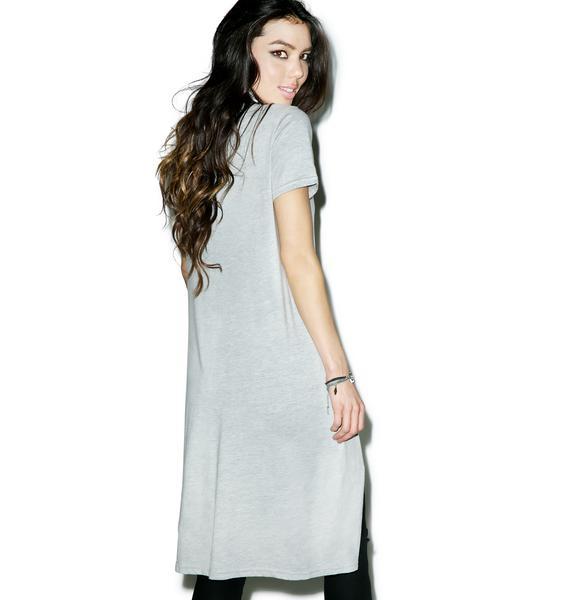 Glamorous Split Second Tee Dress
