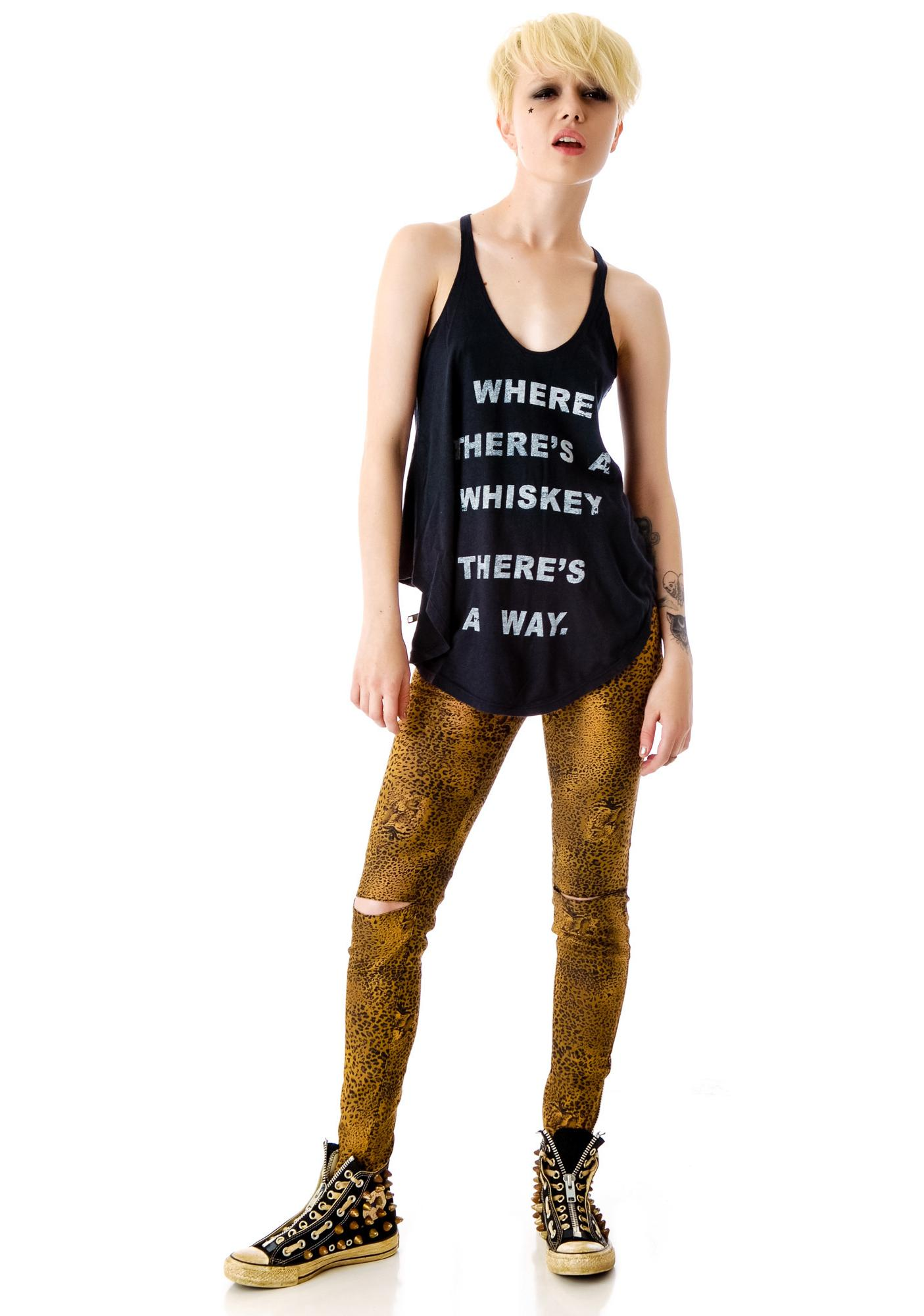 Junk Food Clothing Where There's A Whiskey Rebel Tank