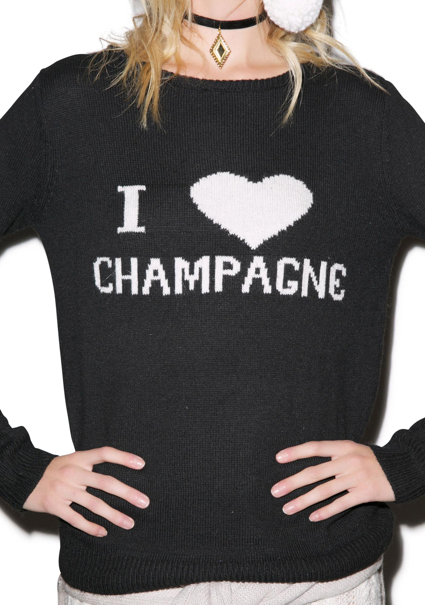 For Love & Lemons Champagne Sweater