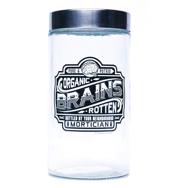 Sourpuss Clothing Brains Apothecary Jar