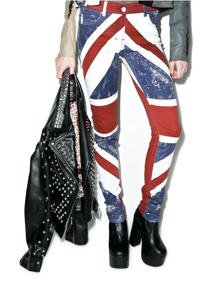 Union Jack Skinny Jeans