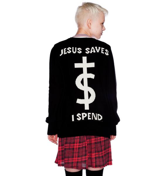 UNIF Jesus Saves Cardigan