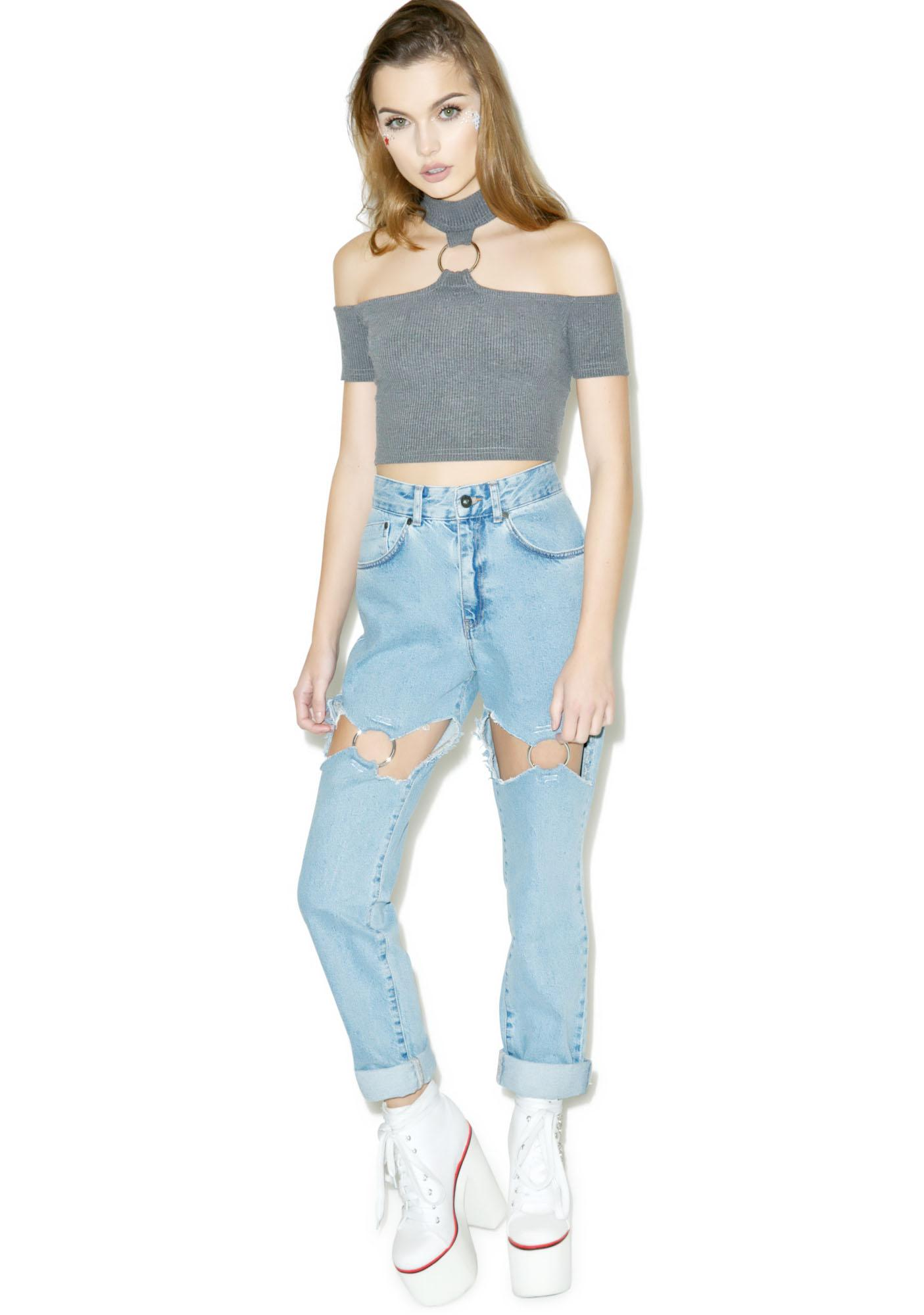 The Ragged Priest Thorn Crop Top